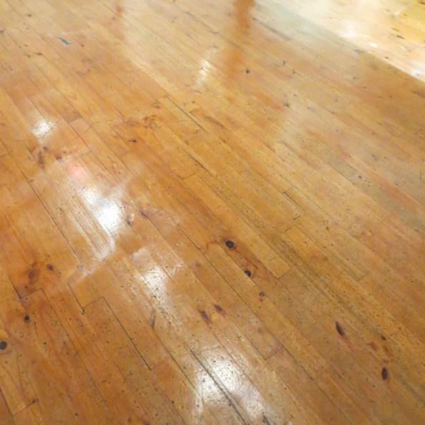 Yellow wood floors in The Hester Rupert Art Museum, Graaff Reinet