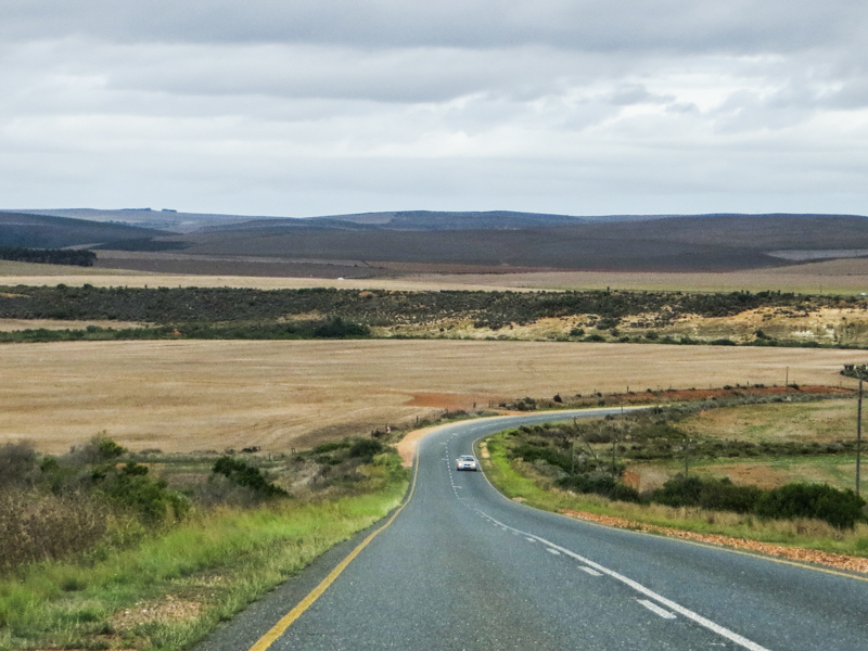 The road to Bredasdorp