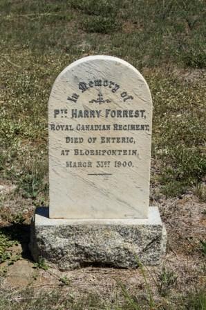 President Brand Cemetery, BloemfonteinCanadian grave in President Brand Cemetery