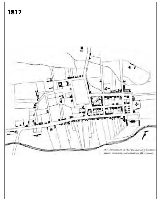 Stellenbosch in 1817 (http://www.stellenboschheritage.co.za/wp-content/uploads/SUSTAINABLE-STELLENBOSCH-Chapter-1-short-1.pdf)