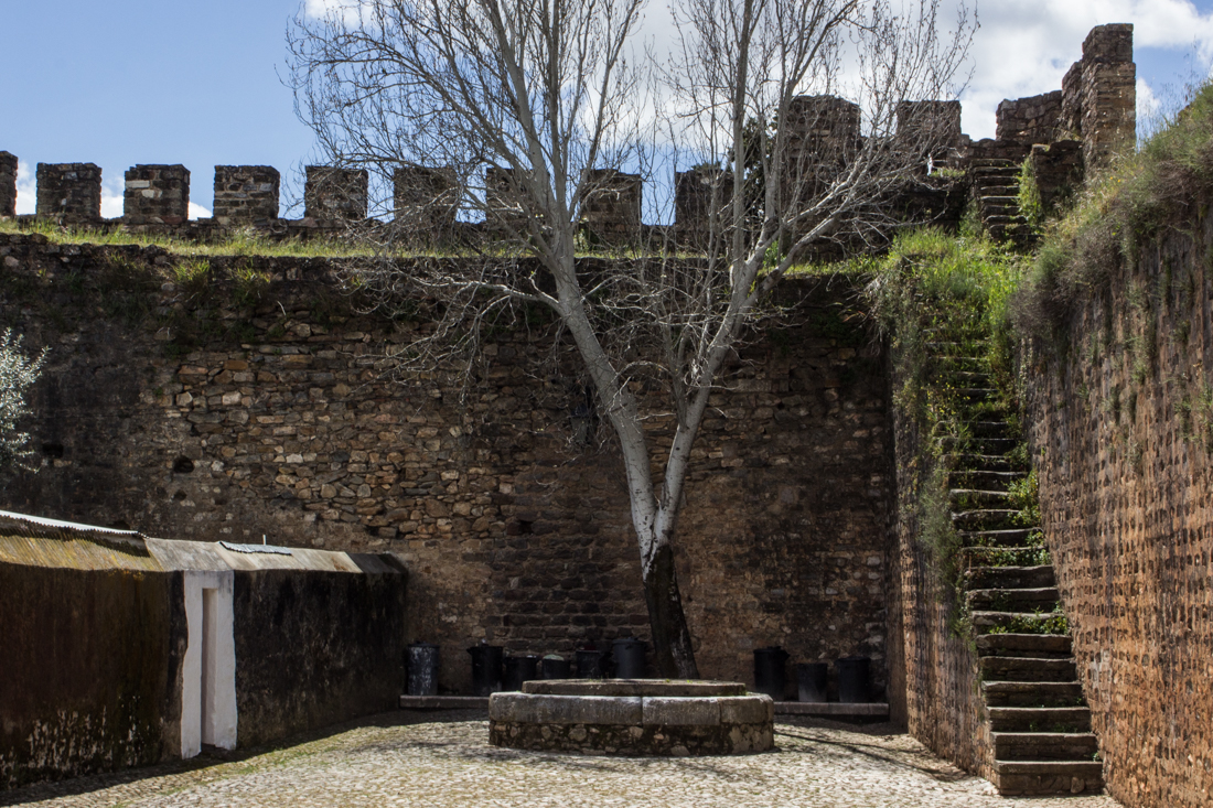 The walls of the Mediaeval Village, inside the Town Gateway, Vila Vicosa