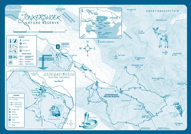 Jonkershoek Nature Reserve Brochure map