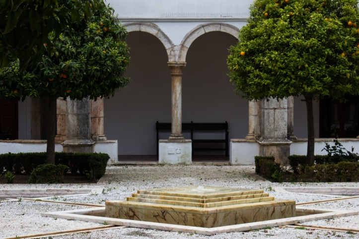 The Fountain in the Cloister of the Pousada, Vila Vicosa