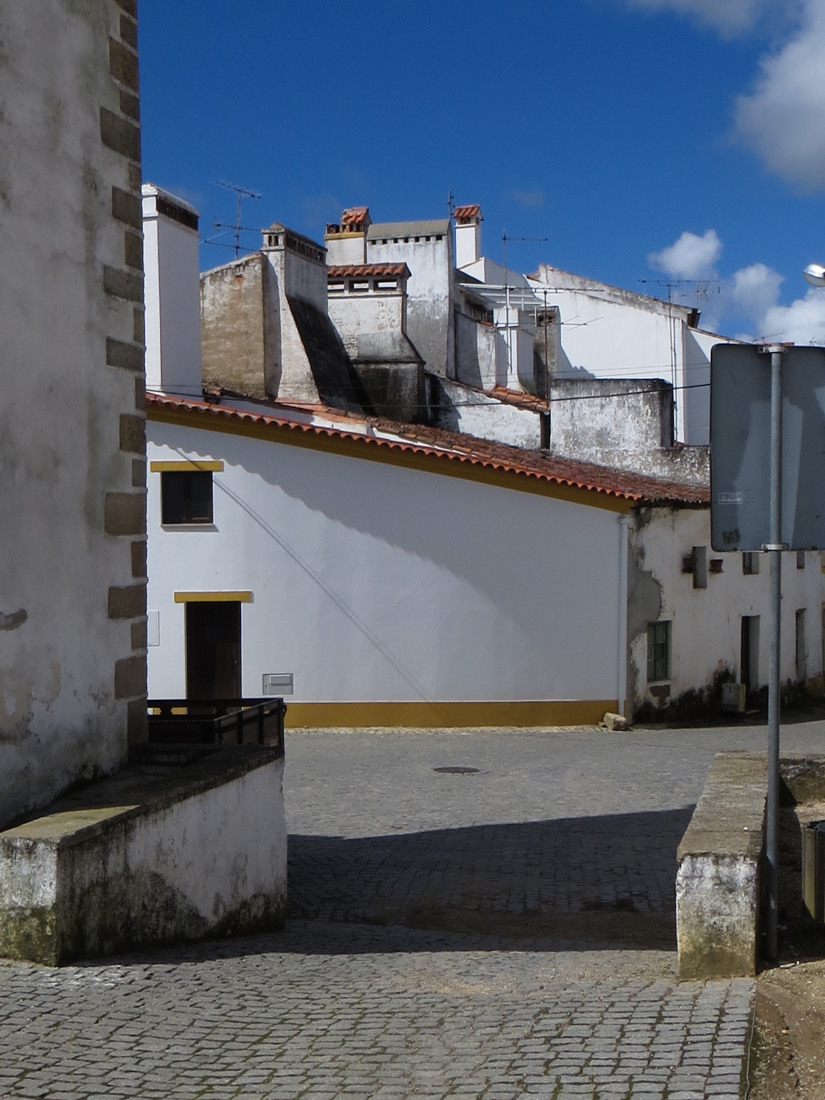 The roofline alongside the Church in Montalvao