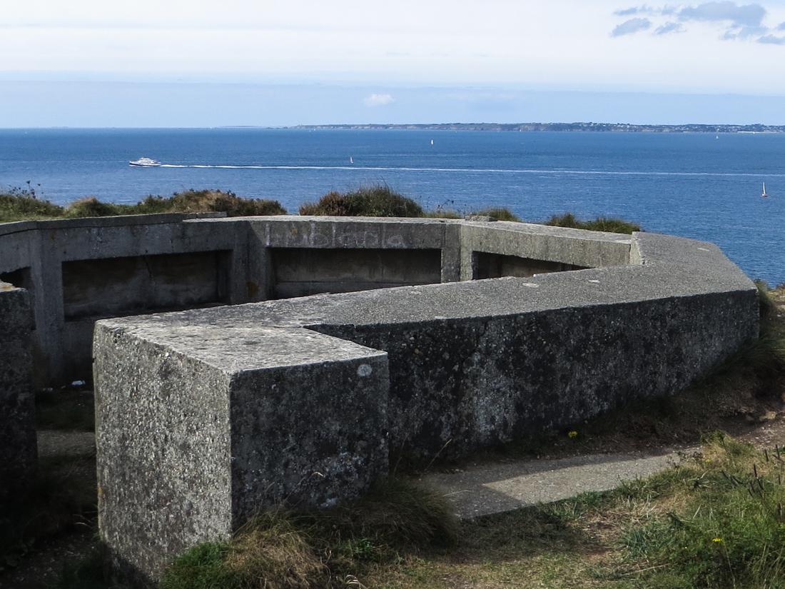German WWII fortifications overlooking the Rade de Brest