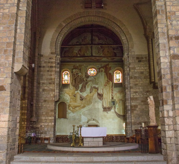 The north trancept, Saint Melaine
