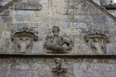 Ship carved on to Notre Dame de Croas Batz