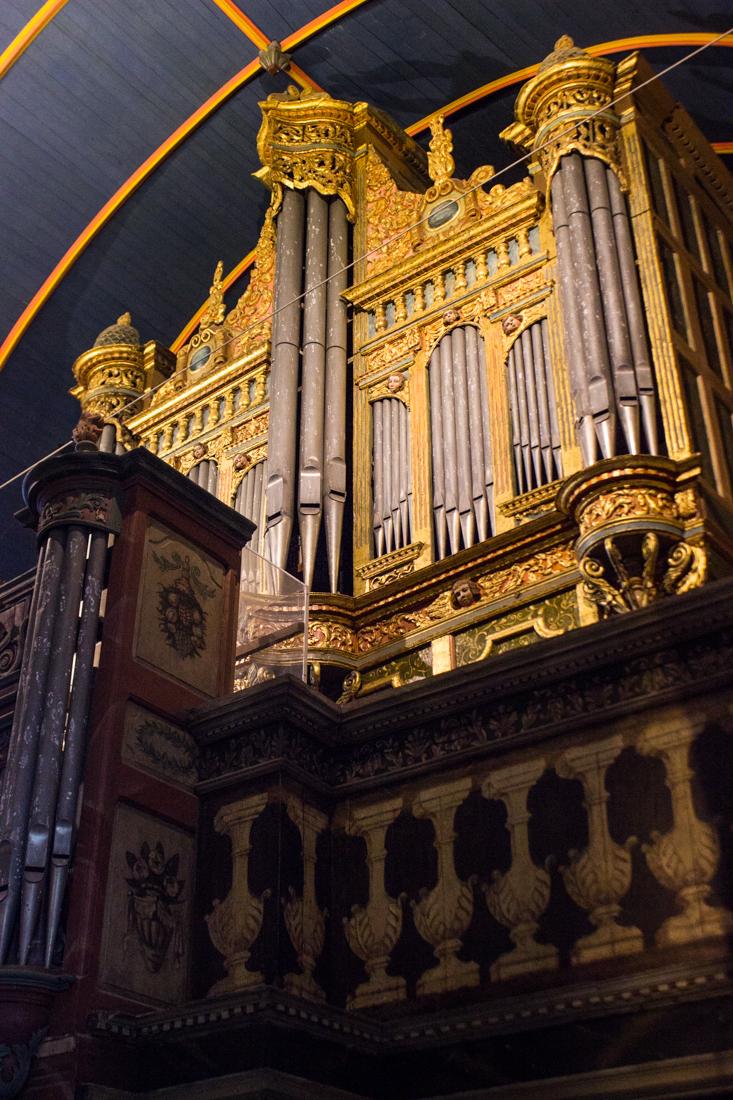 The organ, the Church of St Suliau, Sizun