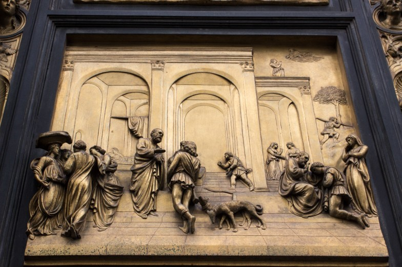 One of Ghiberti's panels on the Baptistry doors