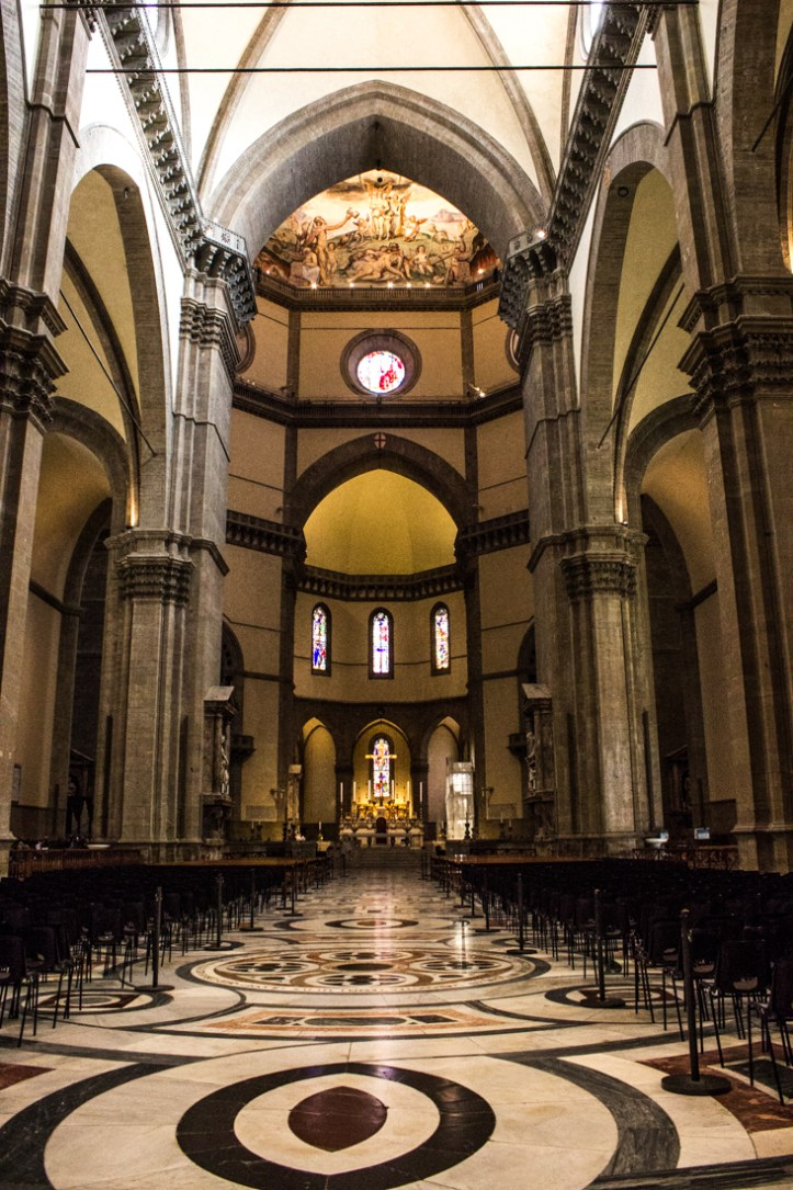 The interior of the Cathedral in Florence