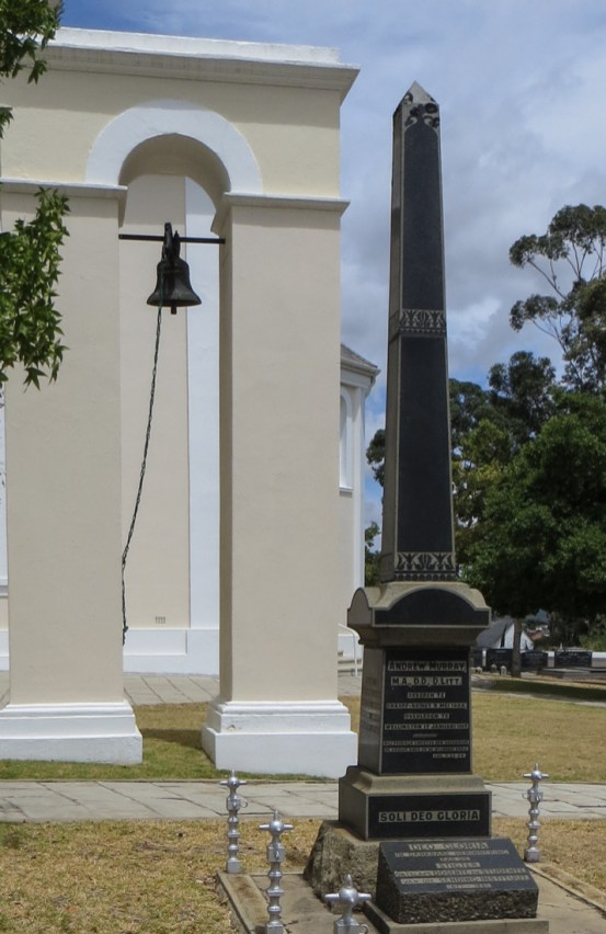 Andrew Murray's grave in the Dutch Reformed Church, Wellington