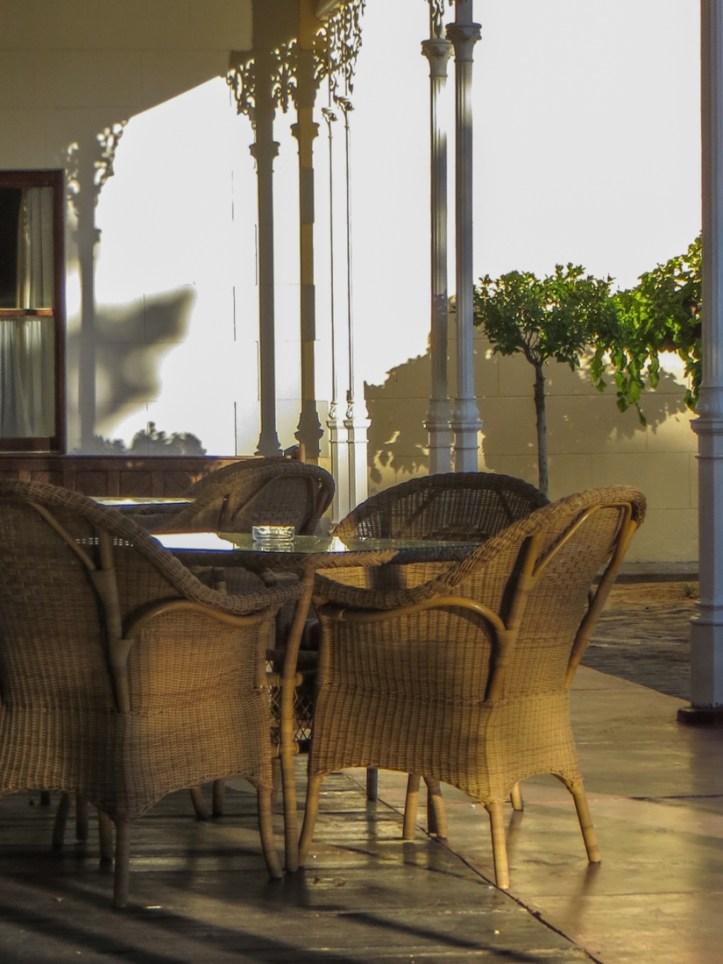 The front verandah of Matjiesfontein Hotel