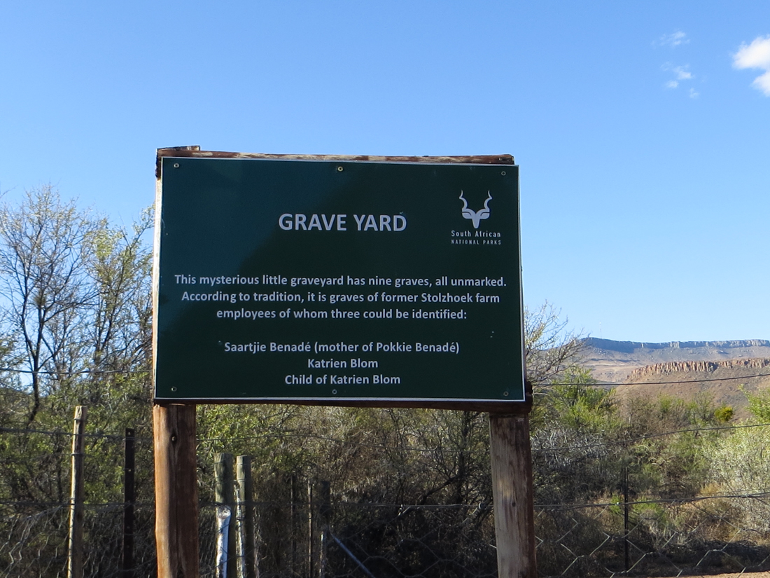 Graveyard in the Karoo National Park