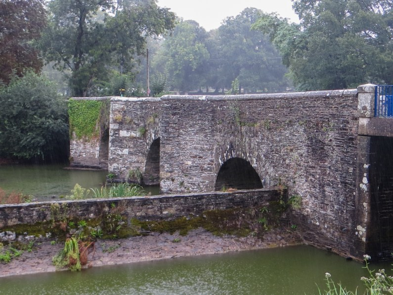 Bridge over the Nantes-Brest Canal at The Abbey of Bon Repos