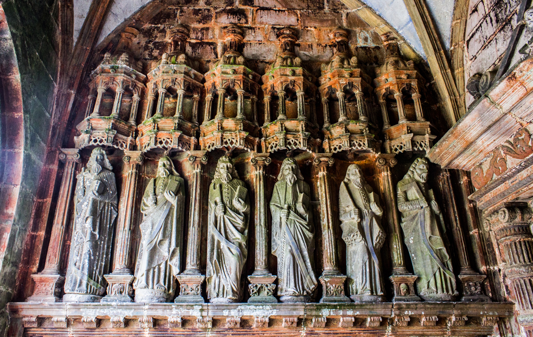 The Apostles in the South Porch of the Church at Guimiliau