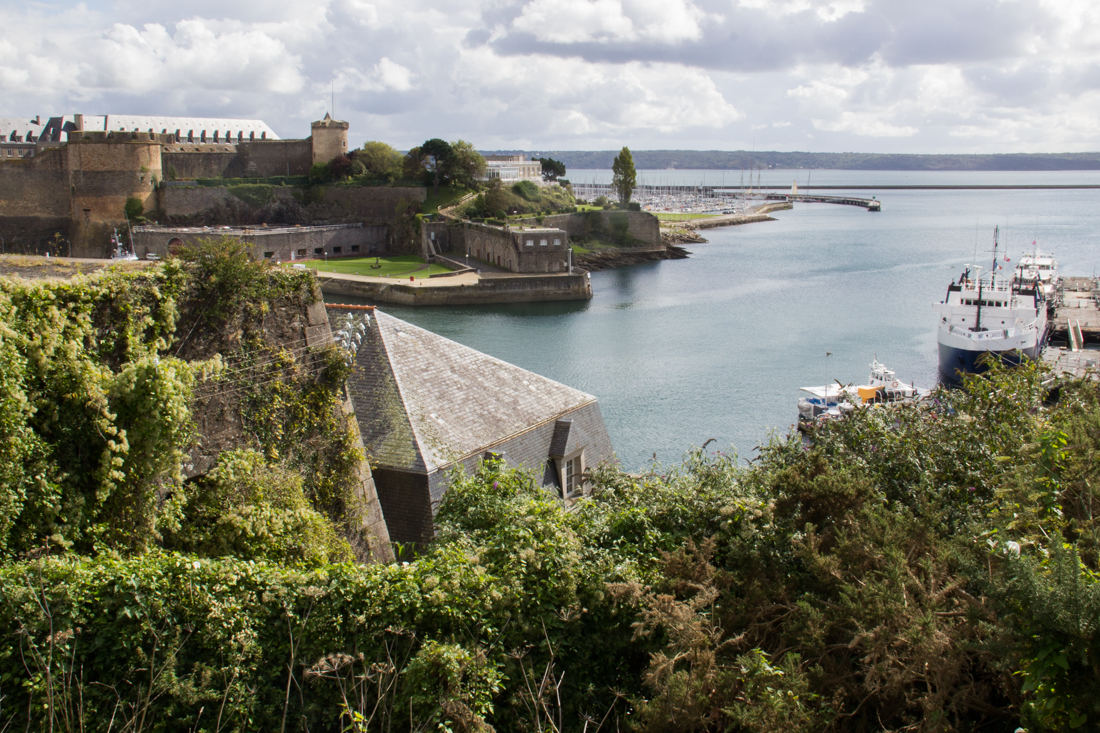 The Chateau de Brest, Vauban fortifications, and the mouth of the River Penfeld