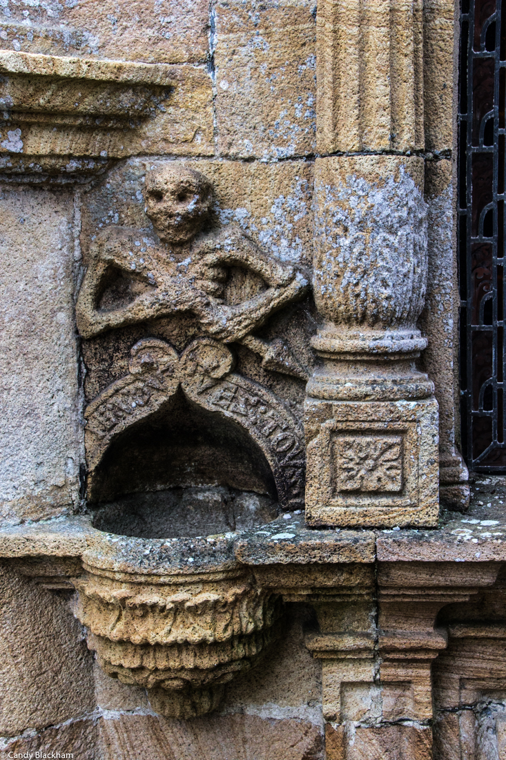The Ankou on the Ossuary at La Roche-Maurice