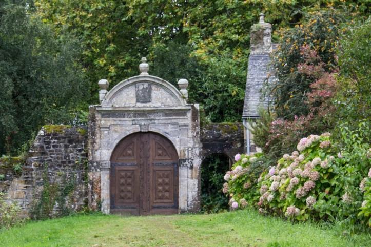 An old gateway at Landevennec Abbey
