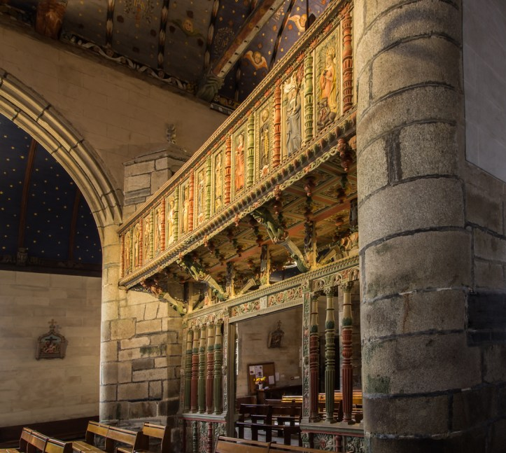 The Rood Screen in the Church of St Yves, La Roche-Maurice