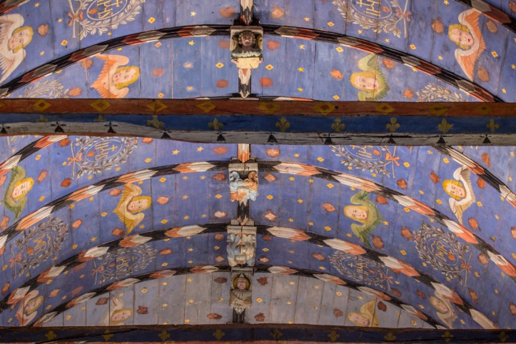 The ceiling of the Church of St Yves in La Roche-Maurice