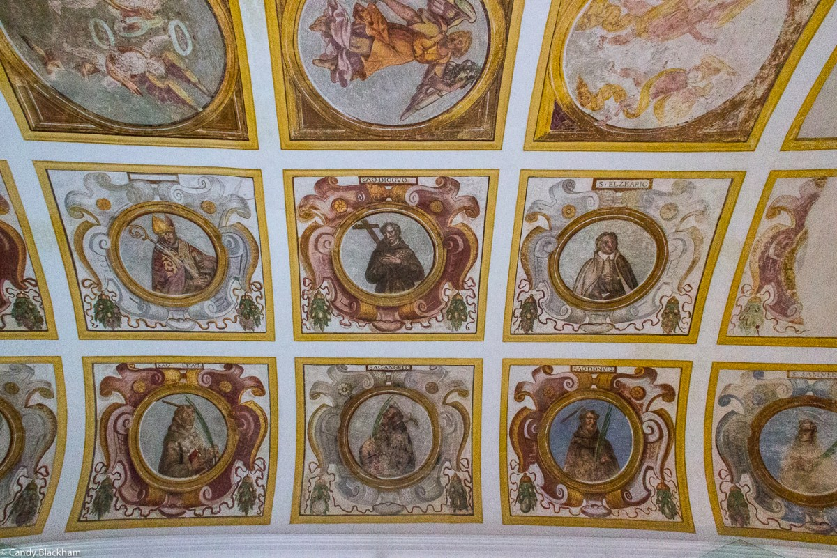 The ceiling of the former Chapter House