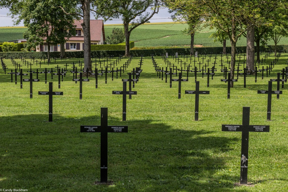 The German Cemetery at Fricourt