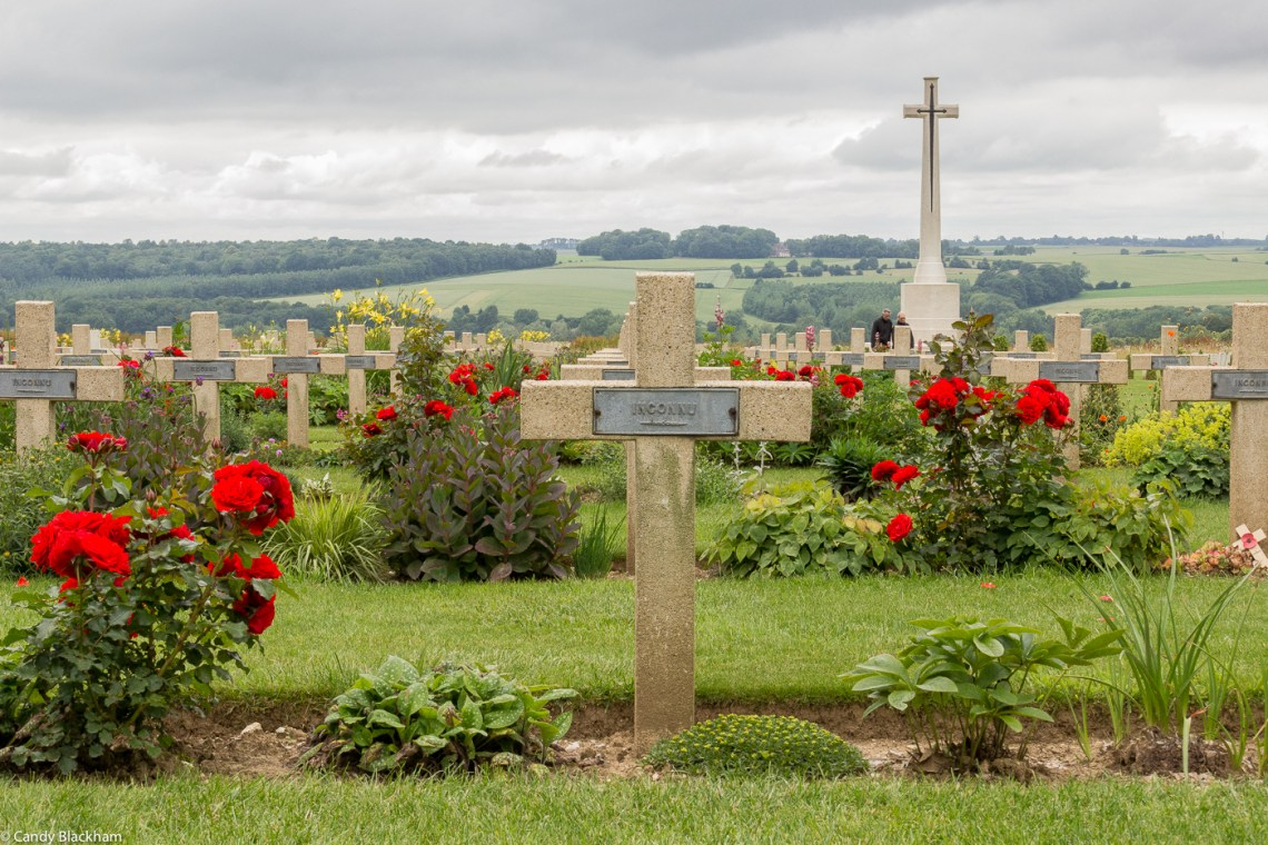 The French side of the Cemetery at Thiepval