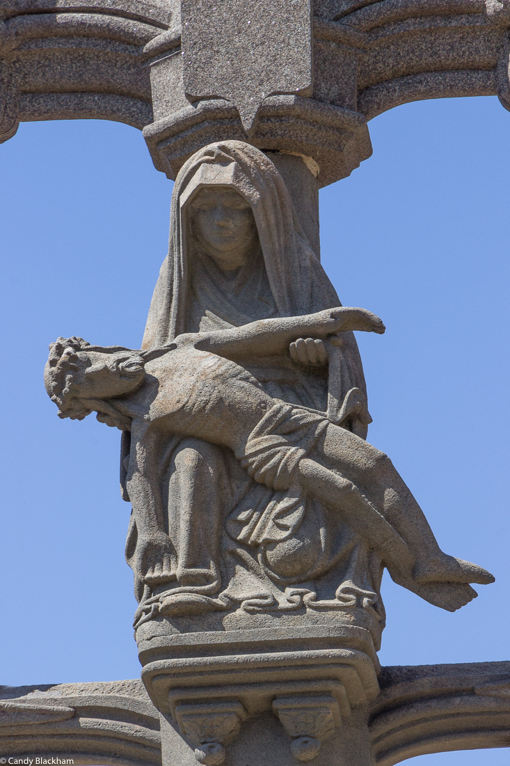 Pieta on the Calvary at the Church of St Melar, Locmelar