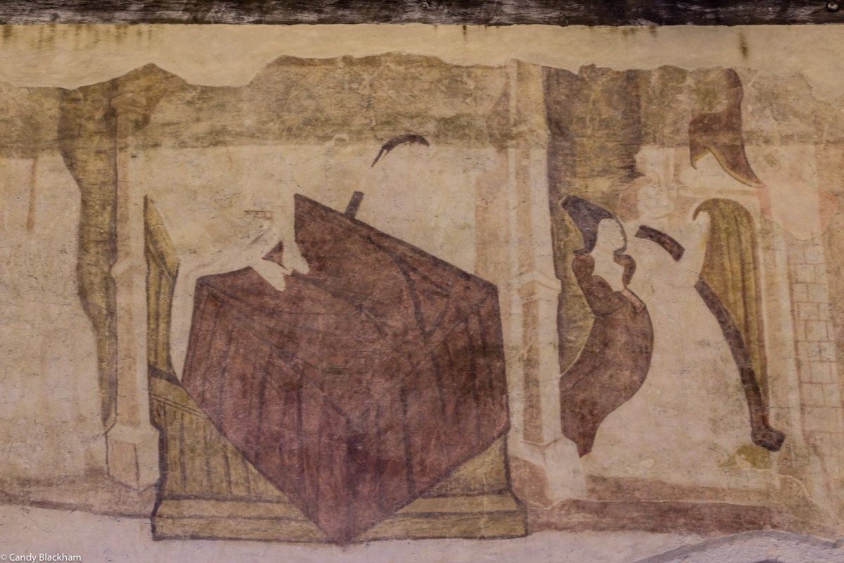 Wall paintings in the Church of St Salomon, La Martyre