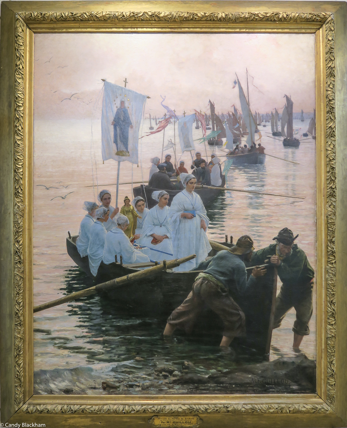 Alfred Guillou, The Arrival of the Pardon of St Anne de Fouesnant in Concarneau, 1884