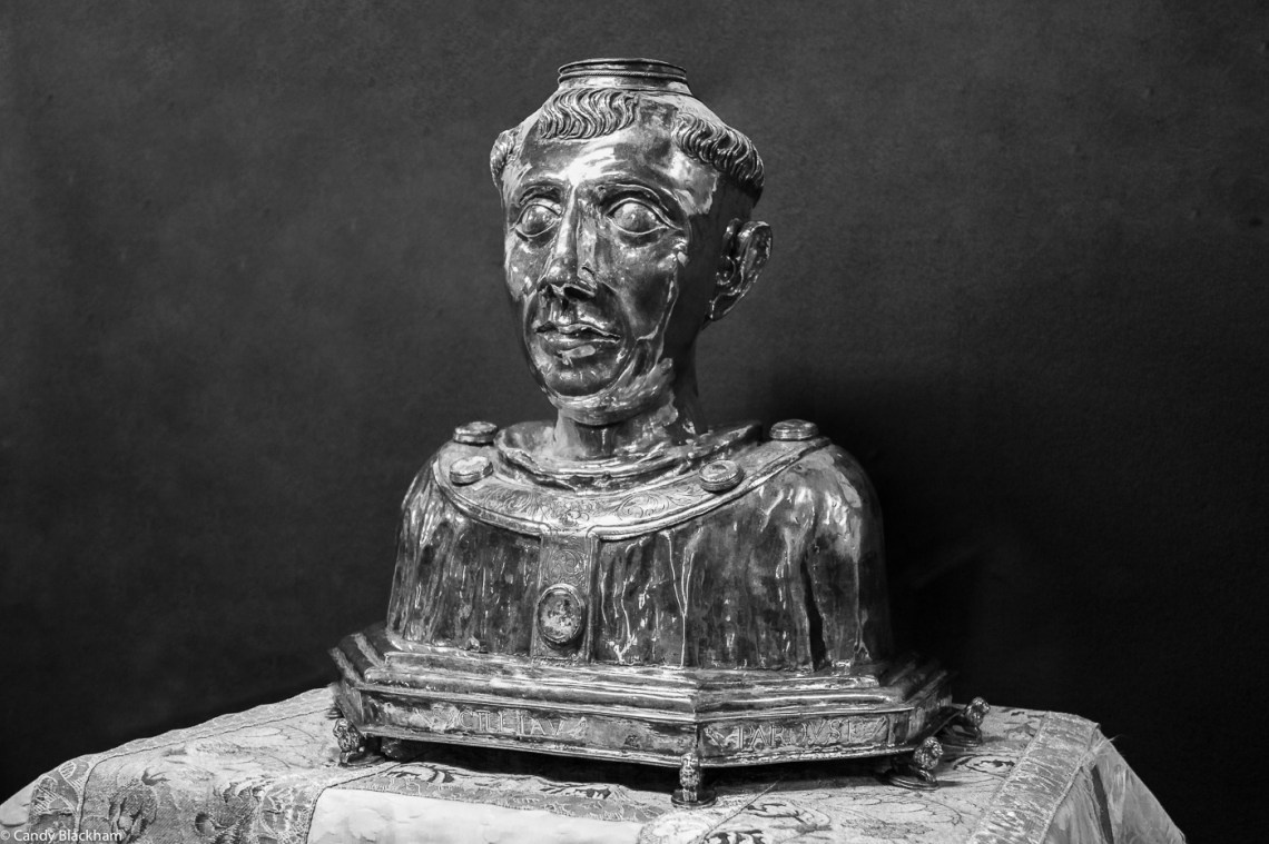 Reliquary bust of St Suliau inside the Church, Sizun