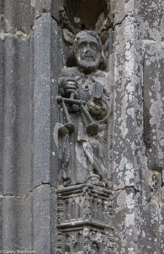 St Yves at the Church of St Yves, La Roche-Maurice