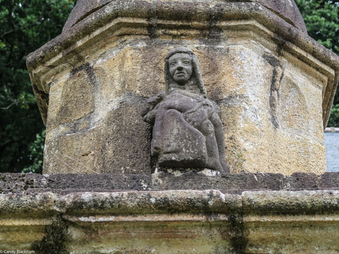 Carving on the Fountain below the Crucifix, Coed-Nant