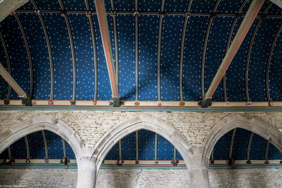 The ceiling at Brennilis Church