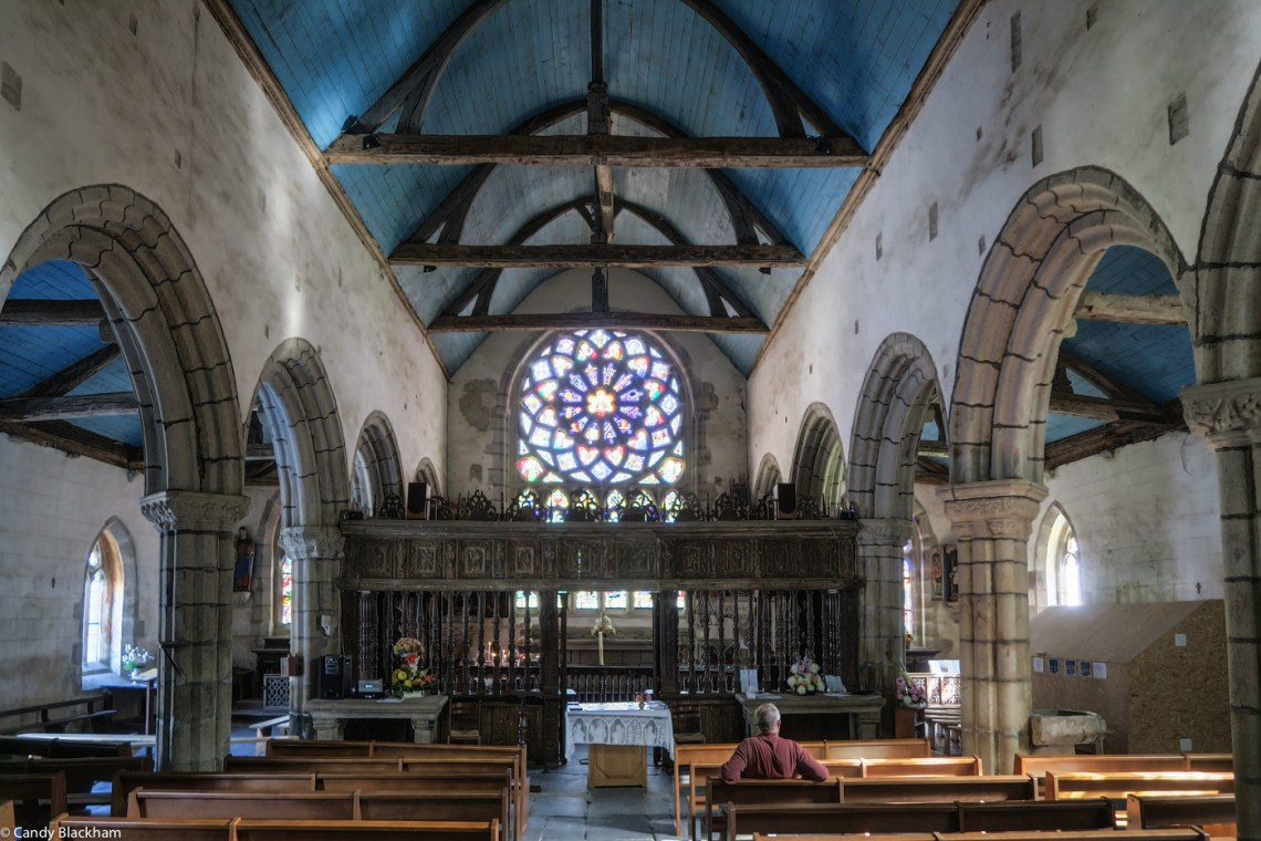 Inside the Church of St Herbot