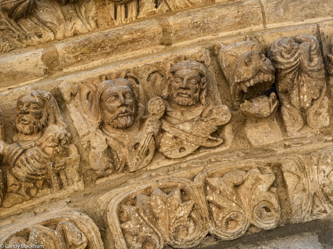 Carvings on a Romanesque Church doorway