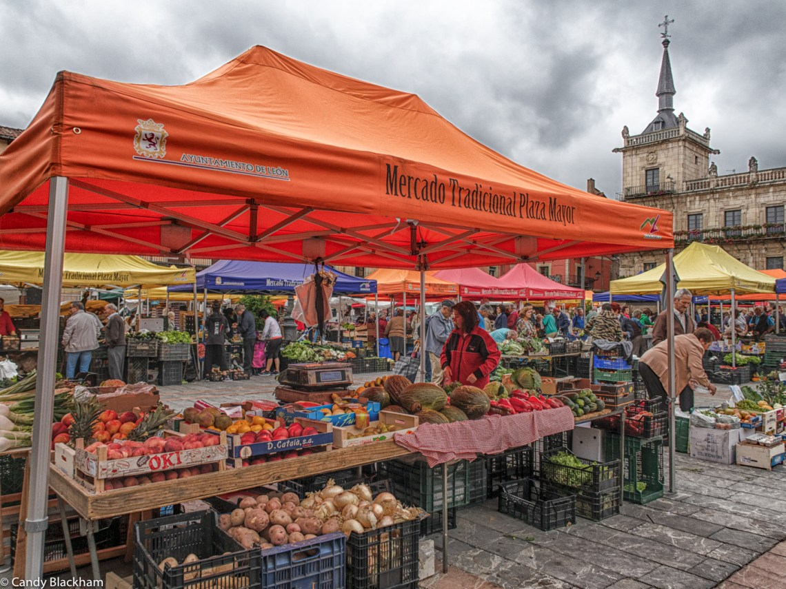 Fruit and vegetables in the Plaza Mayor, Leon