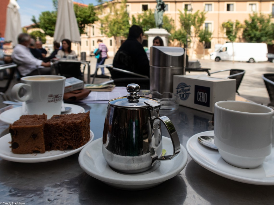Coffee in the Plaza San Marin