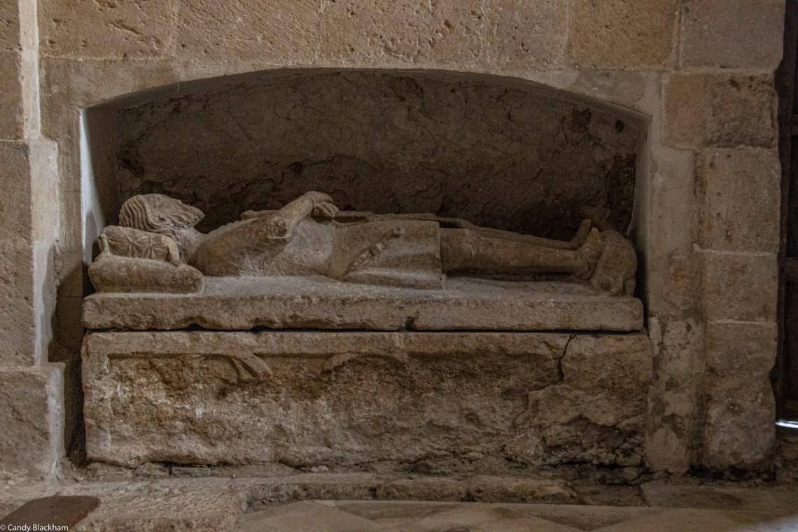 The founder's tomb in Santa Maria de Sandoval