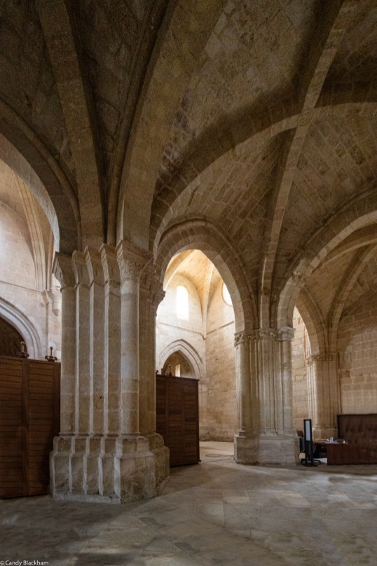 Monumental pillars in the church