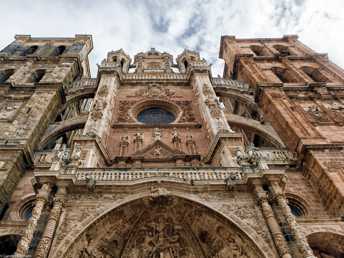 The facade of the Cathedral of Santa Maria in Astorga