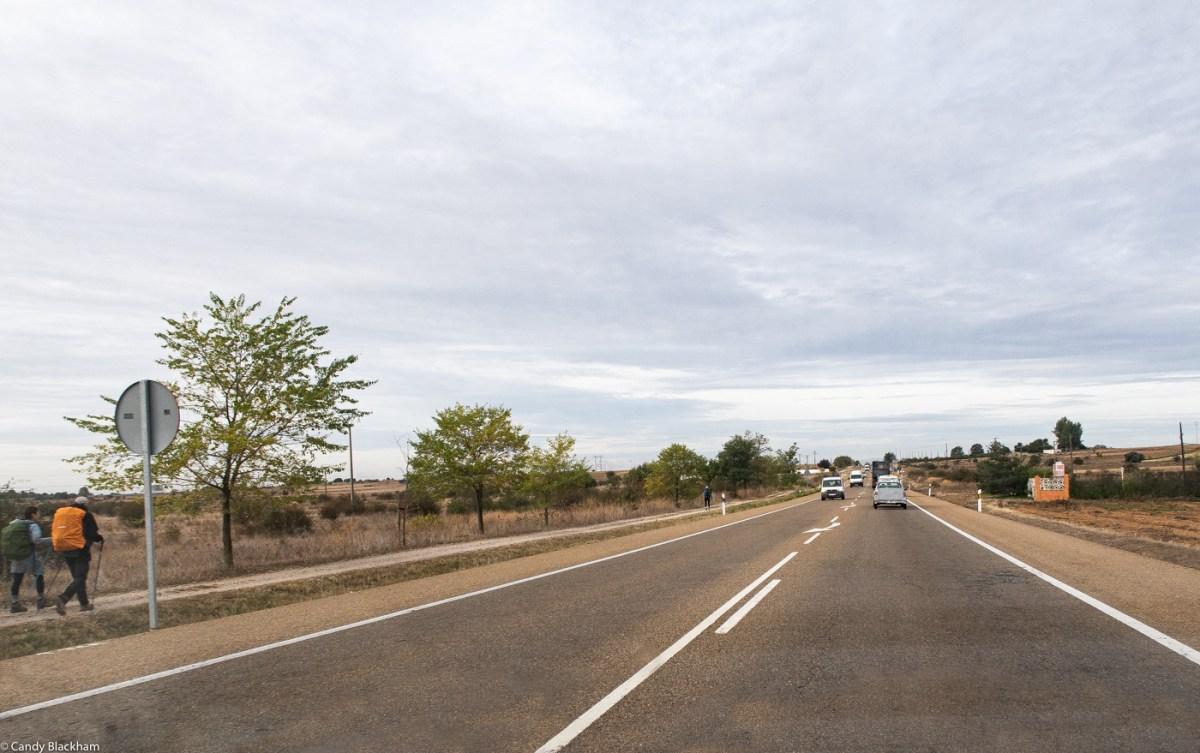 Camino de Santiago leaving Leon