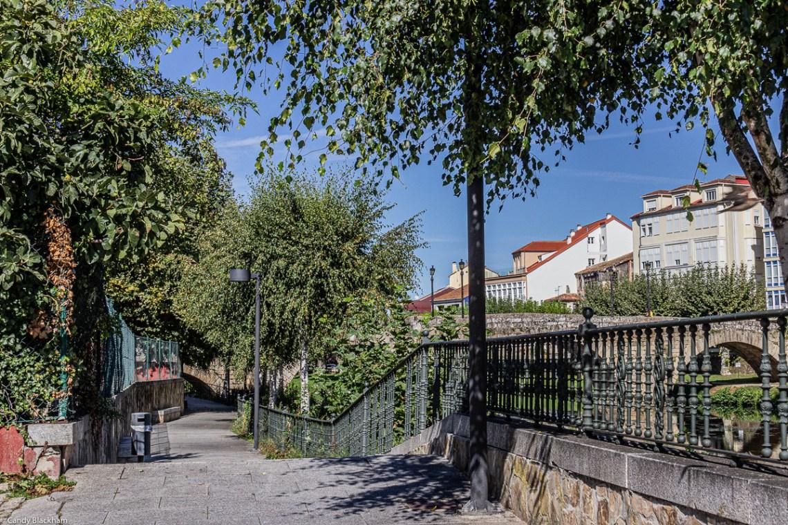 River walk in Monforte de Lemos