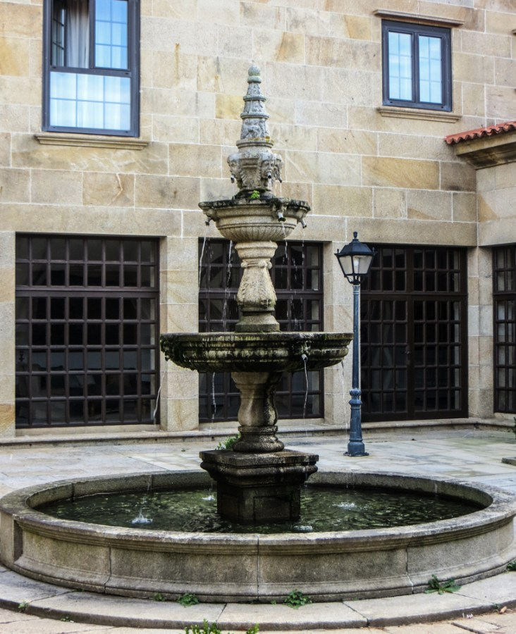 Fountain in the Cloister of the hotel