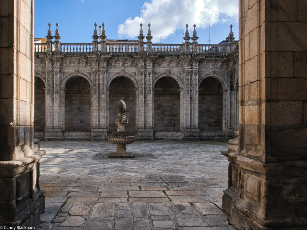 Fountain in the Cloister of Lugo Cathedral