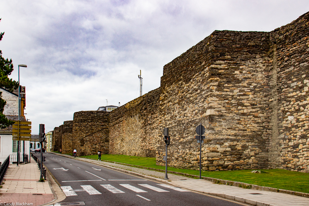 Square tower in the Roman walls of Lugo