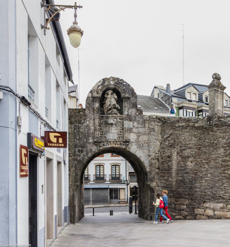 Puerta Santiago in the Roman Walls of Lugo