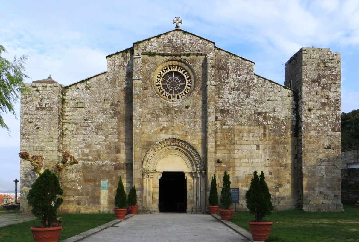 Collegiate Church of St Mary in Baiona in Galicia