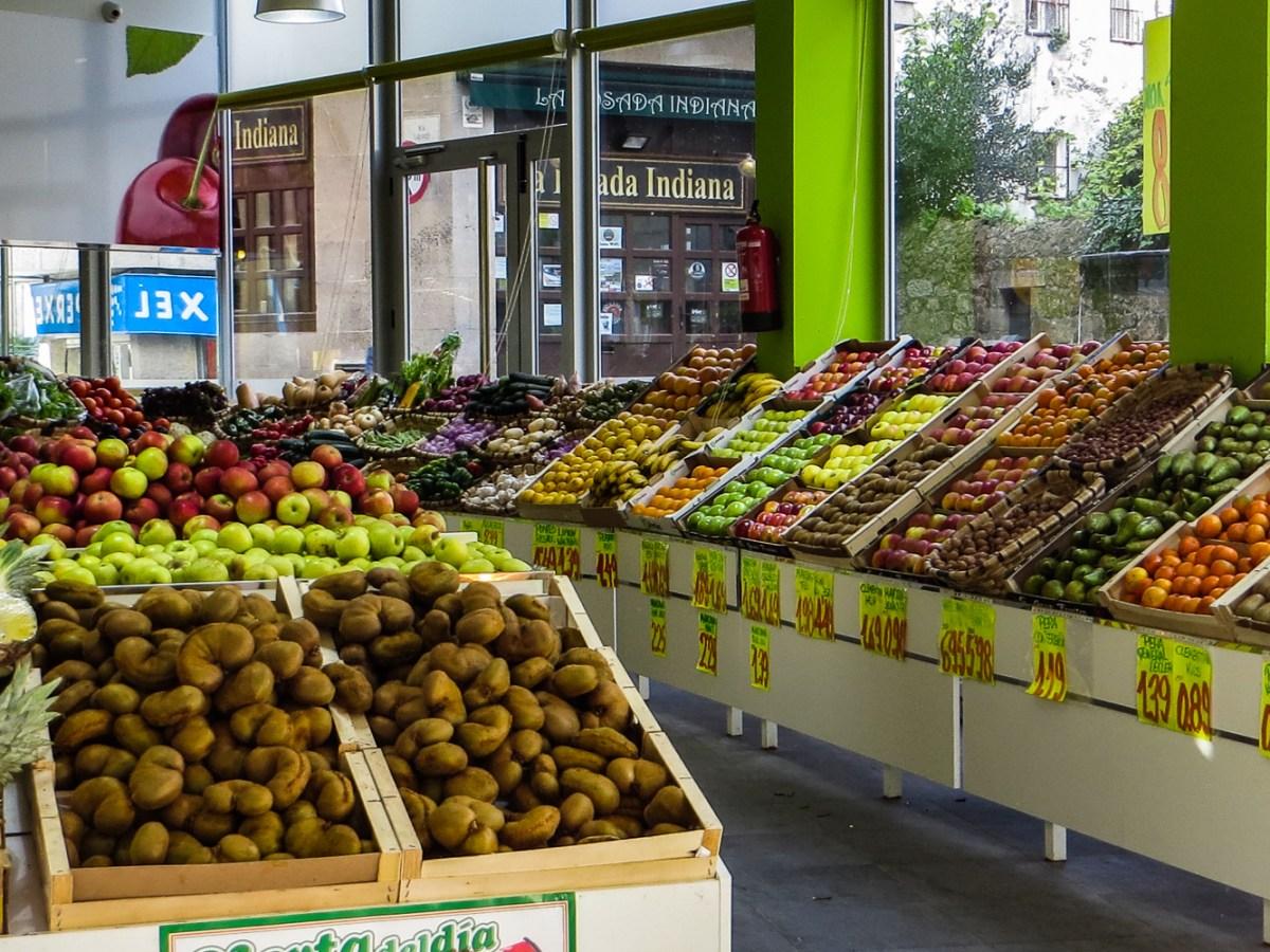 Fruit stall in Pontevedra