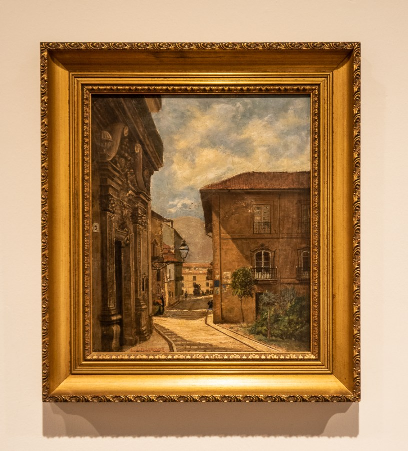Plaza de la Balesquida in Oviedo, 1885-90, by Eduardo Casielles, in the Museum of Fine Arts in Oviedo